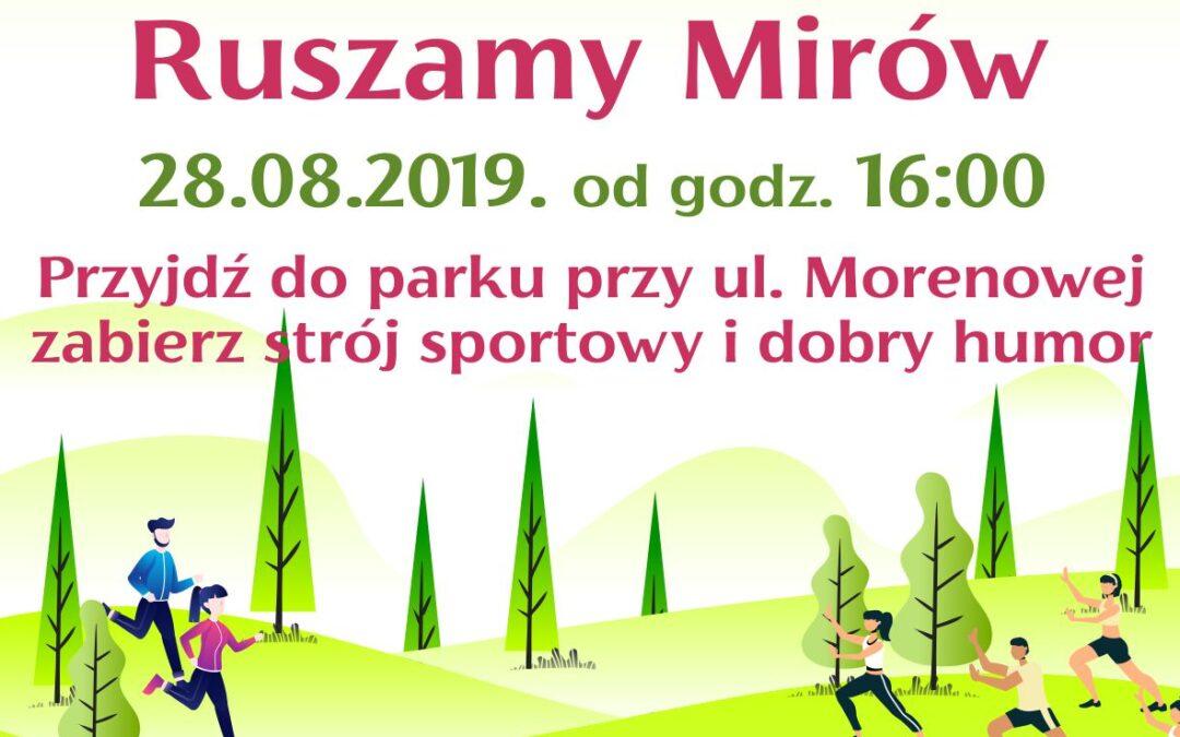 Ruszamy Mirów 28.08. – plakat