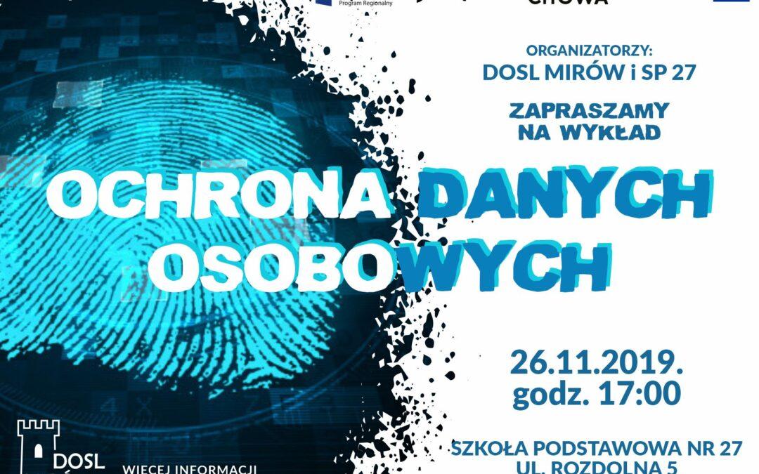 Ochrona danych osobowych – zaproszenie