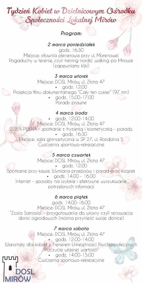 Tydzień Kobiet - zaproszenia 2 str