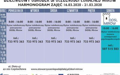 Harmonogram DOSL 16-21