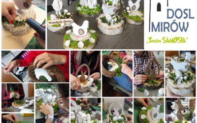 Zosia Samosia tworzy dekoracje Wielkanocne